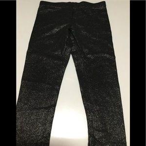 Okie Dokie Girls 3T Black Silver Shimmer Leggings